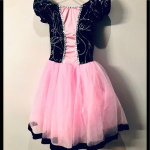 Pink and black ballet costume